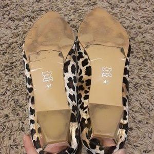 4afc82f00391 Vero Cuoio Shoes - Cheetah print heeled flats